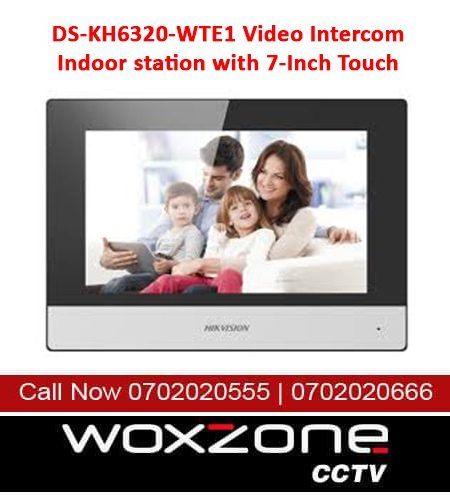 DS-KH6320-WTE1 VIDEO INTERCOM INDOOR STATION WITH 7-INCH TOUCH